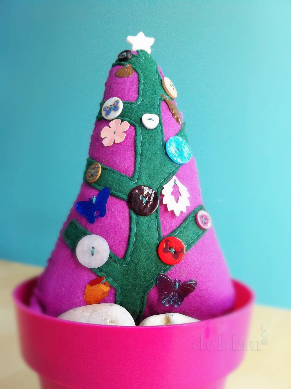 Deblau rbol de navidad de fieltro - Arbol de navidad de fieltro ...