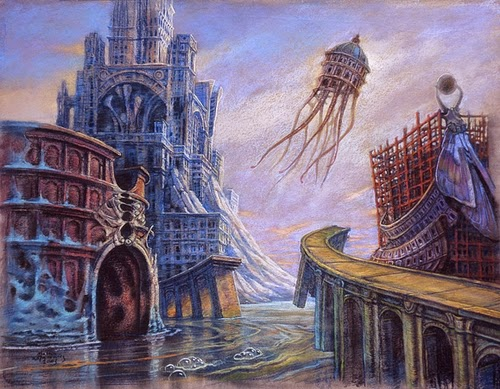 30-Life-of-the-Town-Marcin-Kołpanowicz-Painting-Architecture-in-Surreal-Worlds-www-designstack-co