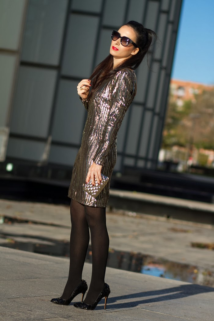 Spanish Fashion Blogger Withorwithoutshoes in the New Year's Eve Outfit