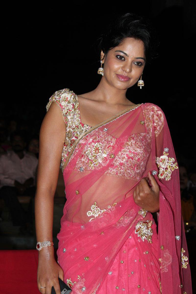 Actress bindhu madhavi in pink saree photos