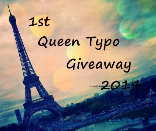 http://sukasukianiss.blogspot.com/2014/03/1st-queen-typo-giveaway-2014.html