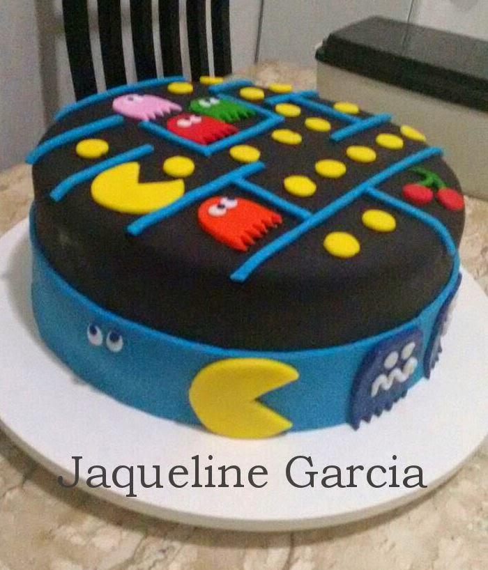 cake pac man, bolo