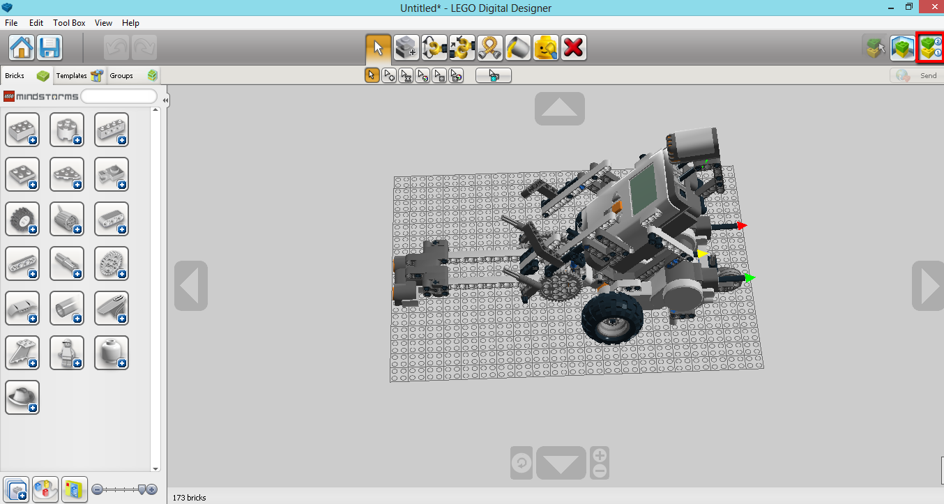 Easy projects for lego mindstorms ev3 robot lego digital designer step8 you also can generate html file by click icon on the top left corner pronofoot35fo Images
