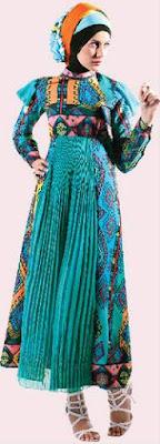 Contoh Model Baju Batik Muslim Remaja Terbaru 2018