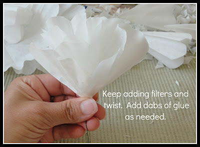 Lewisville love make flowers out of coffee filters for Painting with a twist lewisville tx