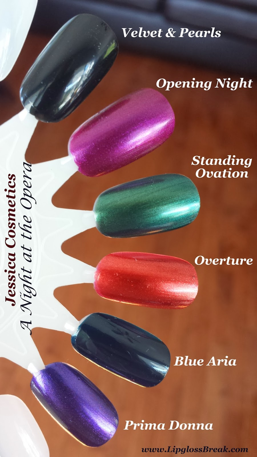 One Of My Favorite Things About Fall Is Deep Dark Nail Colors Here Are Swatches From Jessica Cosmetics A Night At The Opera Collection