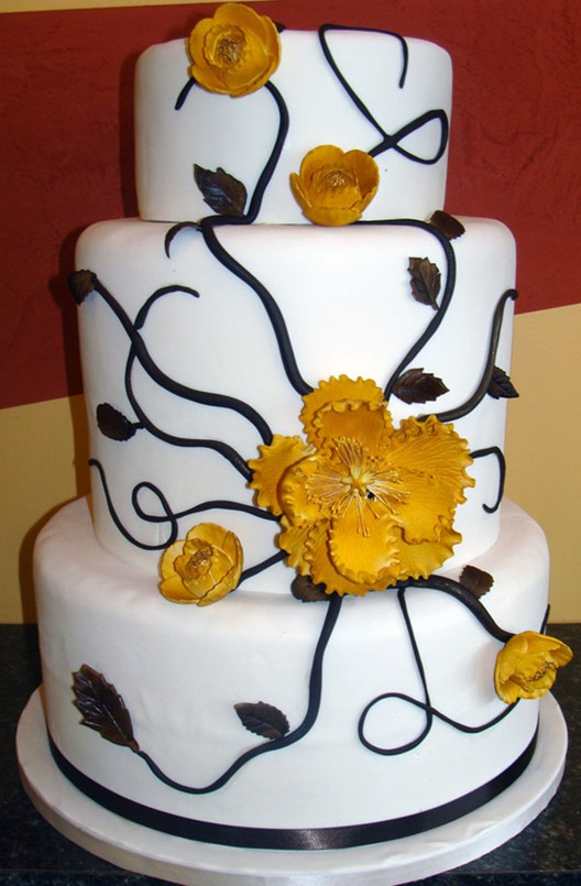 inspirited yellow wedding cakes