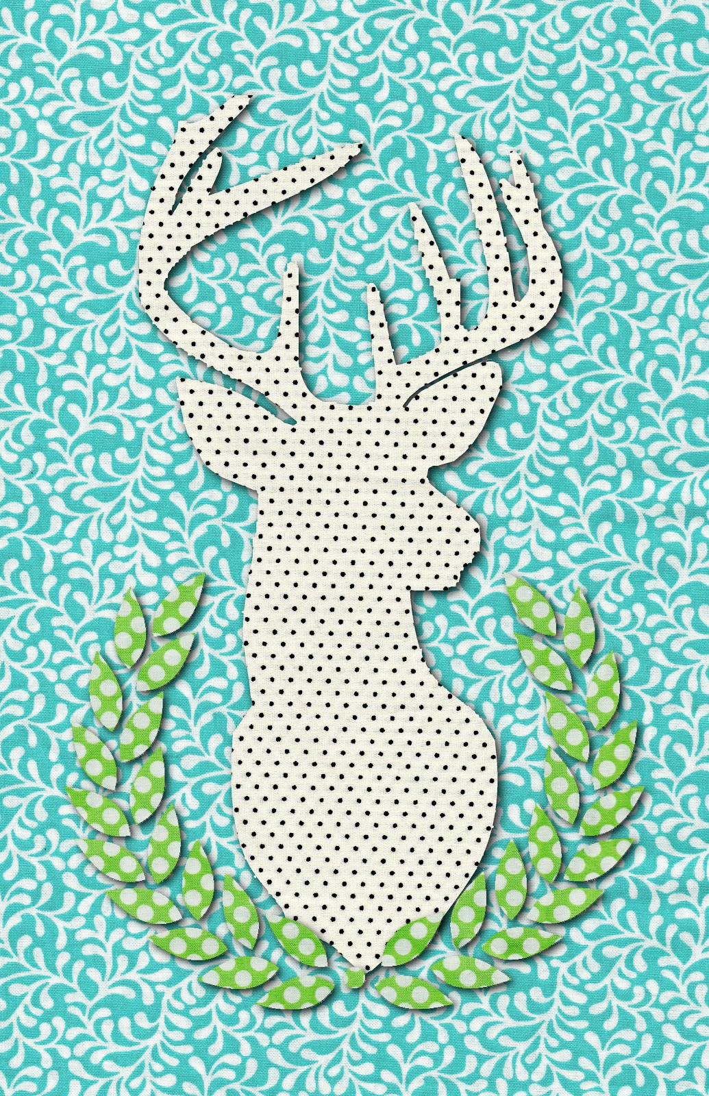 Free Printable Deer Head Art at my3monsters.com