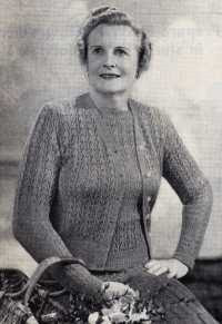 1950's Knitting pattern for a womens Lace Knit Twin set