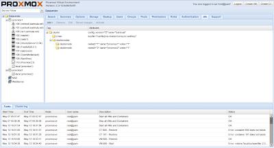 Manajemen cluster di Proxmox 2.3