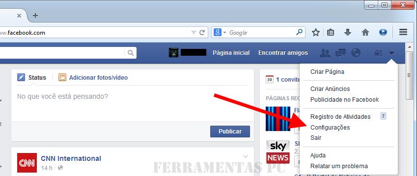 desativar videos automaticos Facebook