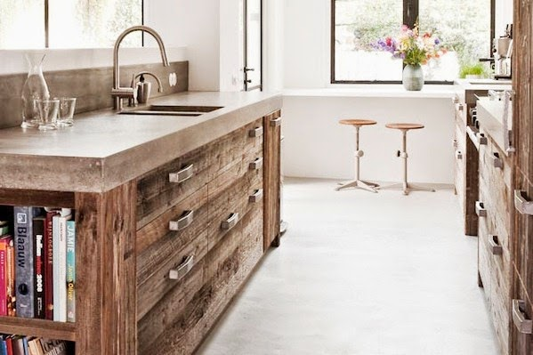 COCOCOZY MODERN COUNTRY KITCHEN RECLAIMED WOOD CABINETS