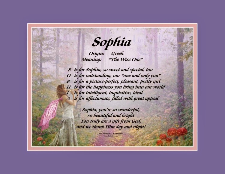 The daily boo sophia name poem from lindseyboo on fairies print negle Choice Image