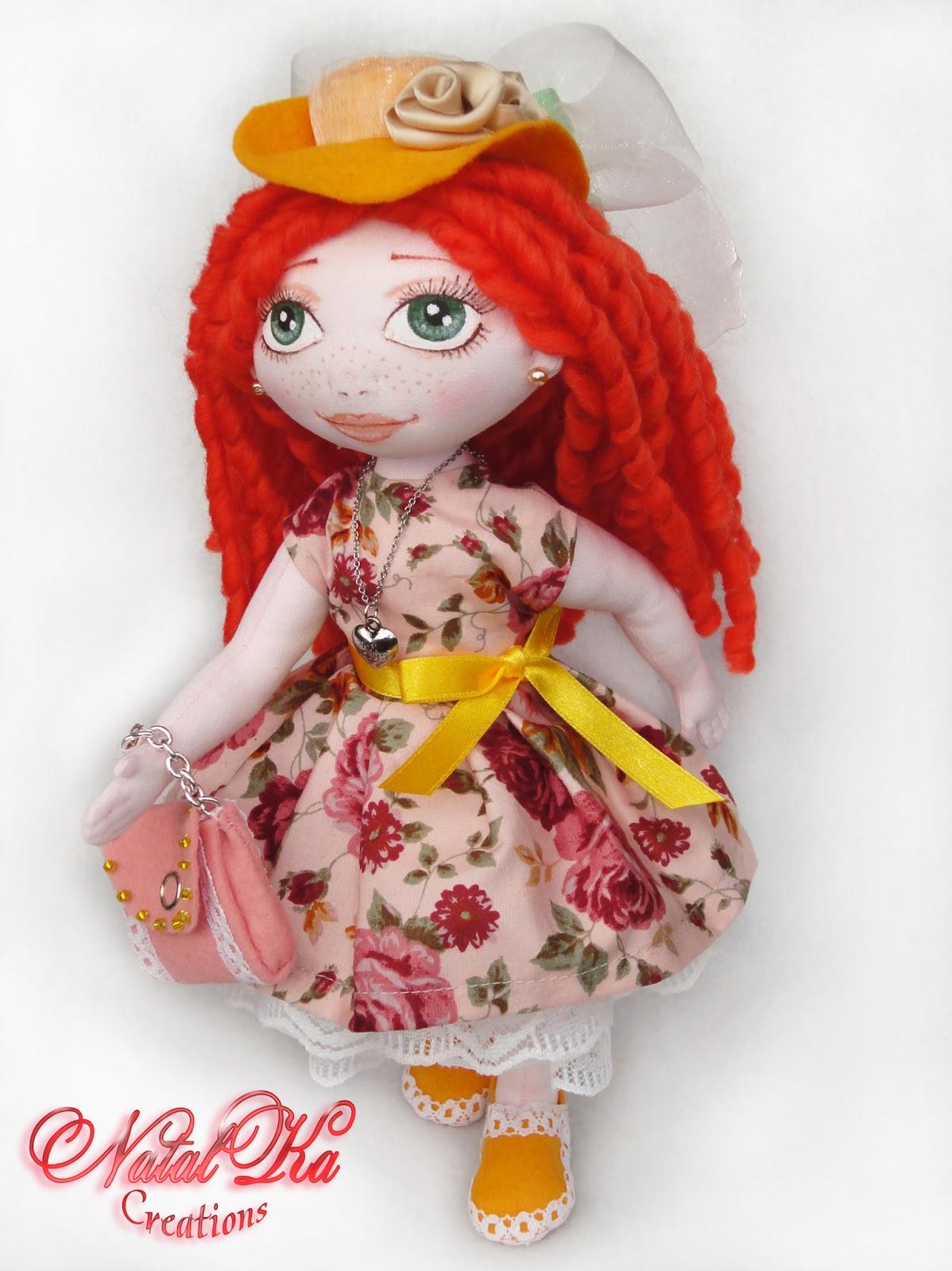 NatalKa Creations. Авторская текстильная кукла