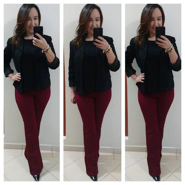 carmen steffens, blog de moda em ribeirão preto, fashion blogger em ribeirão preto, blog camila andrade, calça flare marsala, blusa preta, blazer preto, scarpin preto carmen steffens