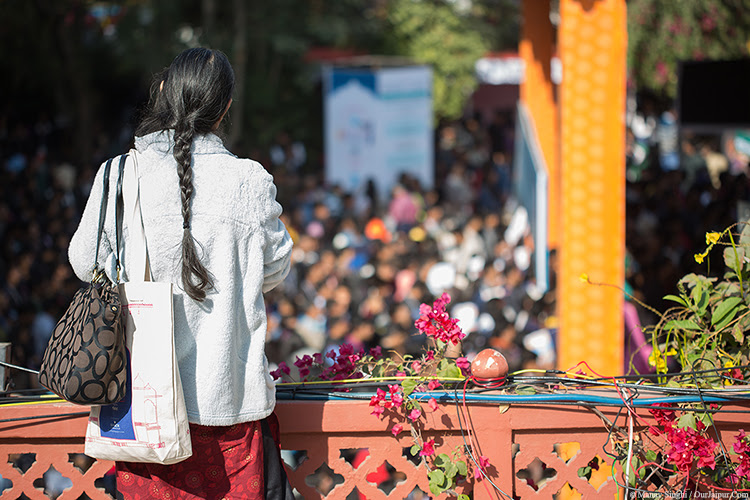"""View of """"Zee Jaipur Literature Festival"""" from Press terrace."""