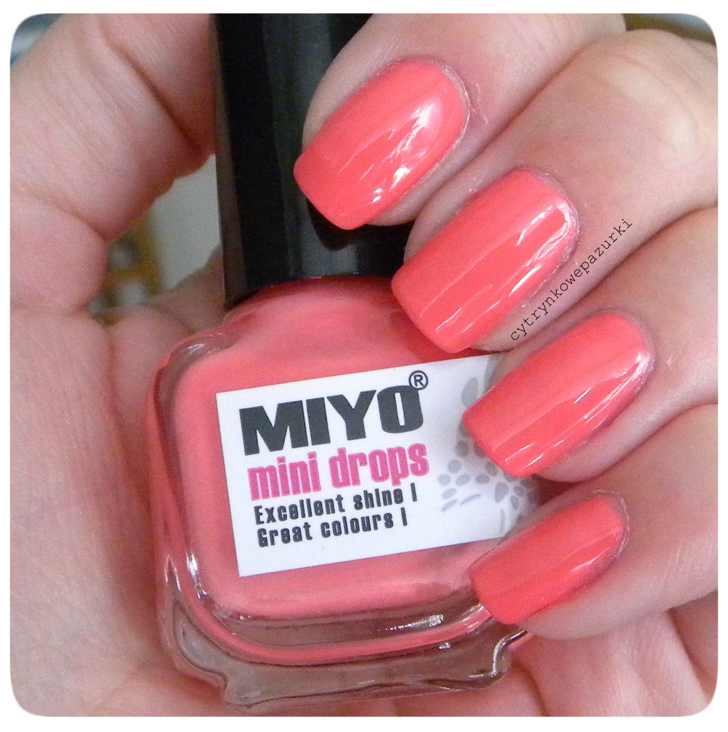 Poniedziałki z Miyo Mini Drops Light Coral 168 i Kabos 125