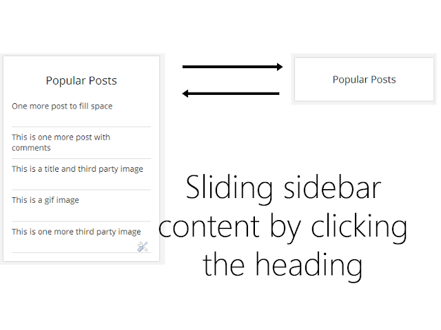 How to slide up the widget content when heading is clicked in Blogger?