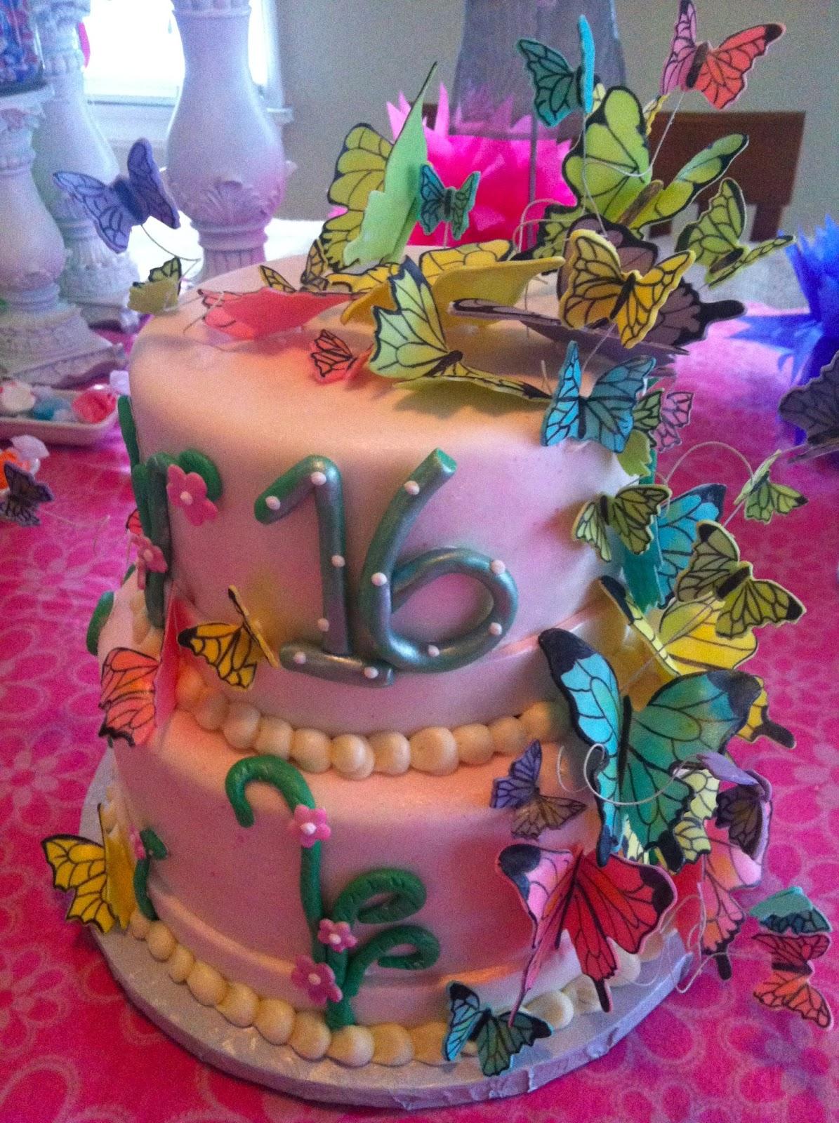 Butterflies for Sweet 16