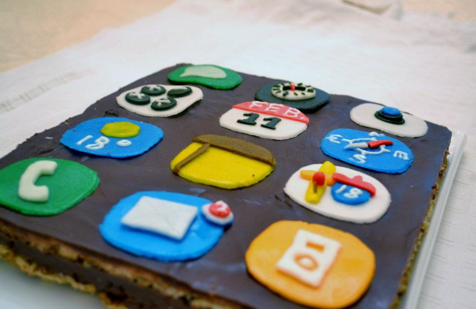 Iphone App Cake Toppers