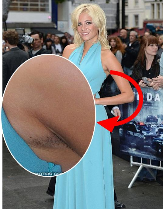 Pixie Lott Cringes At Being Snapped With Hairy Armpits As She Covers Up At The Art Of Rap Premiere
