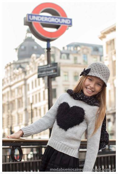 Mimo & Co otoño invierno 2015 sweaters nenas, moda otoño invierno 2015 infantil.
