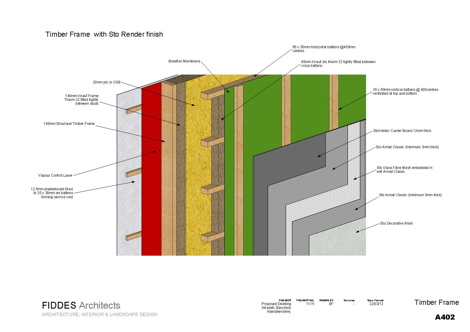 FidArch: New Wall Details for timber frame construction