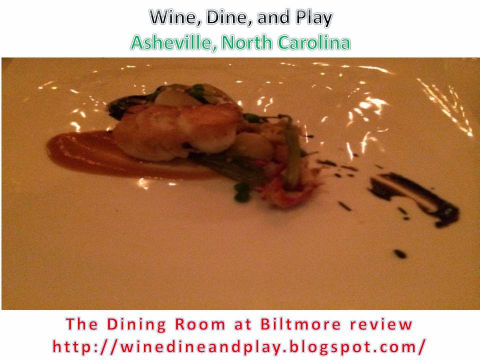 the fourth course was served with a glass of the biltmore pinot noir and that course was the pork tenderloin sliced into four medallions served over a
