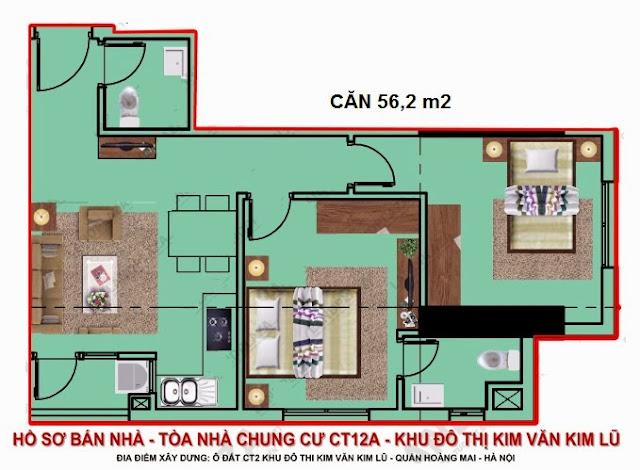 bán chung cư kim văn kim lũ ct12b căn 56m