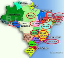 Estados brasileiros que visitei (Gab)