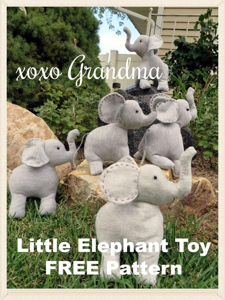 Xoxo grandma little elephant toy pattern free pattern little elephant toy pattern free pattern jeuxipadfo Gallery