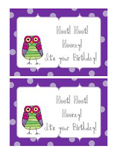 Owl Birthday Card Sayings