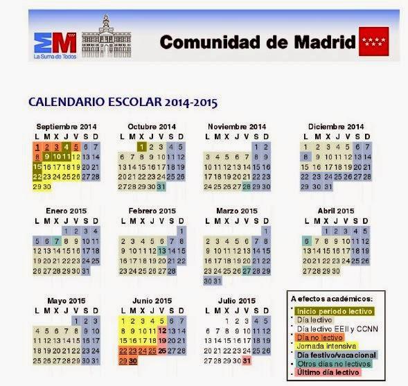 68 Calendario Escolar 2015 2016 Peques