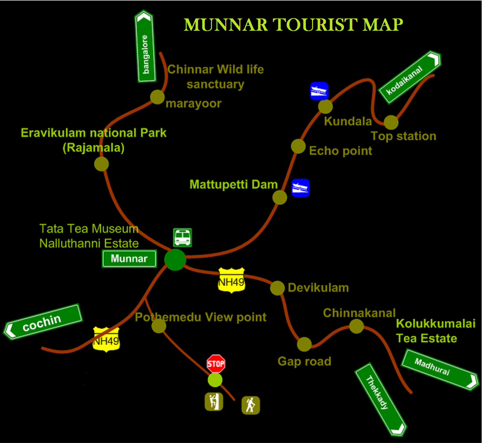 munnar tourist map  tourist attractions in munnar  attractions  - munnar tourist map  tourist attractions in munnar  attractions in munnar in and around munnar  map of munnar  tourist map munnar