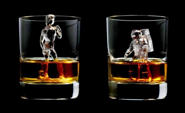 world's first 3d-milled ice cube sculptures