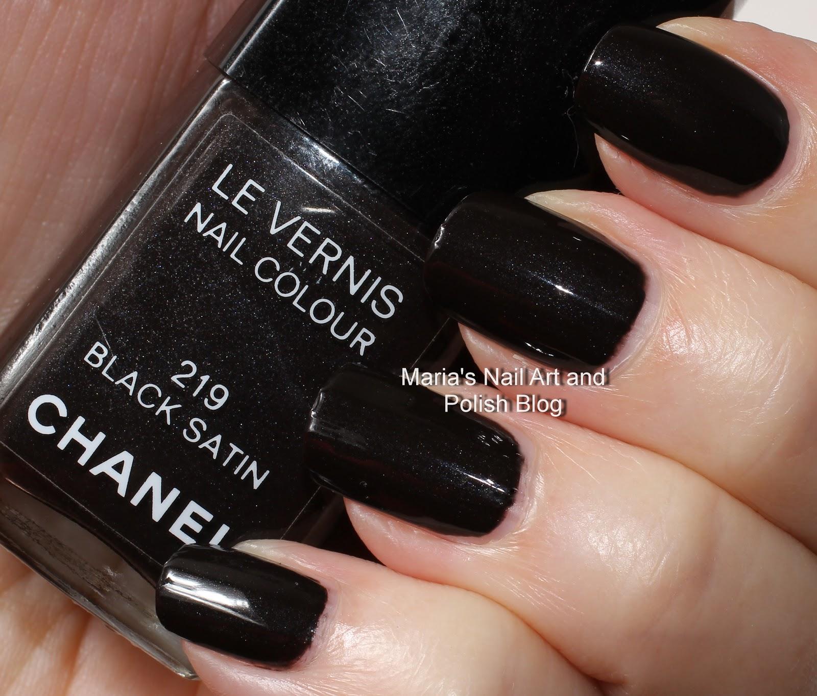 Marias Nail Art And Polish Blog: Chanel Black Satin 219 US