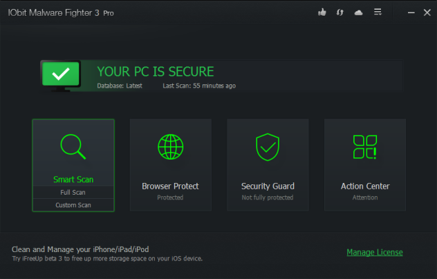 IObit Malware Fighter 3 PRO screenshots