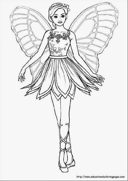 fairy child coloring pages - photo#17