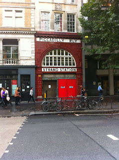Disused Aldwych tube station, London