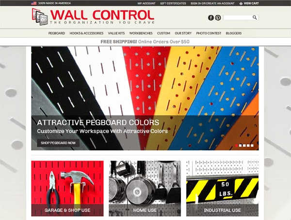 Wall Control Pegboard Website
