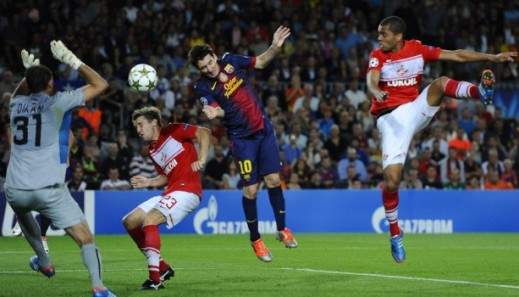 Hasil Skor Video Barcelona vs Spartak Moscow  20 September 2012