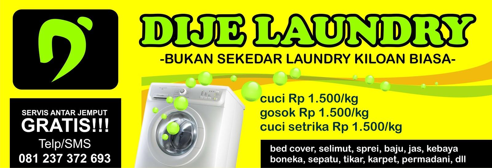 Spanduk DIJE Laundry Sleman
