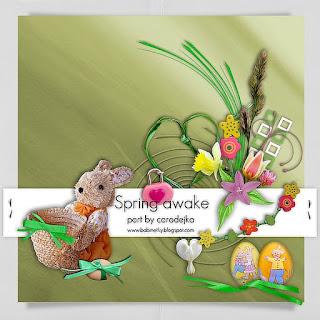 """Free scrapbook collab part """"Spring Awake"""" from Ucarodejkyh"""