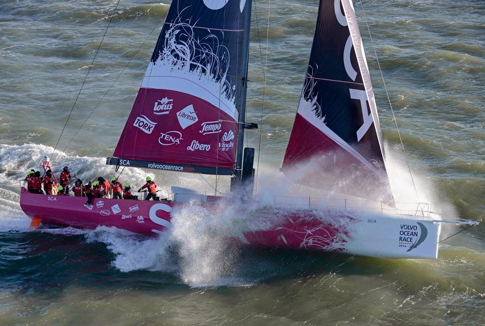 El Team SCA liderando esta Volvo Ocean Race 2014 2015