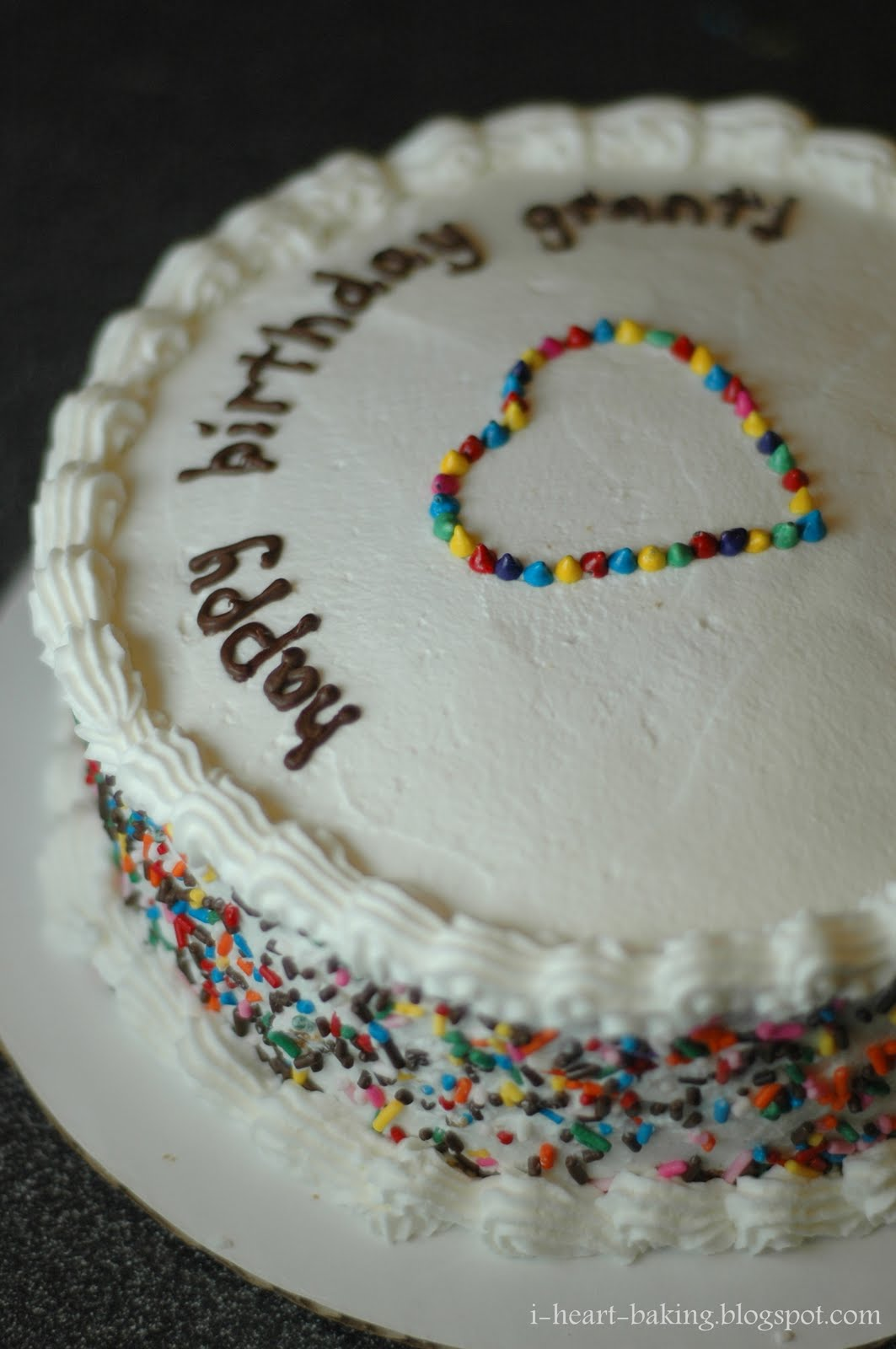 I Heart Baking Rainbow Sprinkles Birthday Cake For Grant