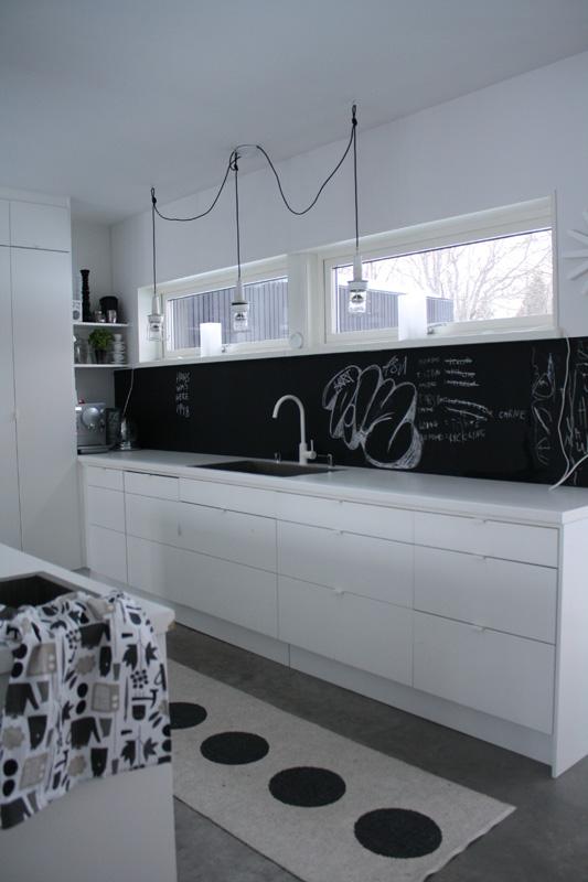 Fr o o caliente una pared de pizarra en la cocina - Pizarra de cocina ...