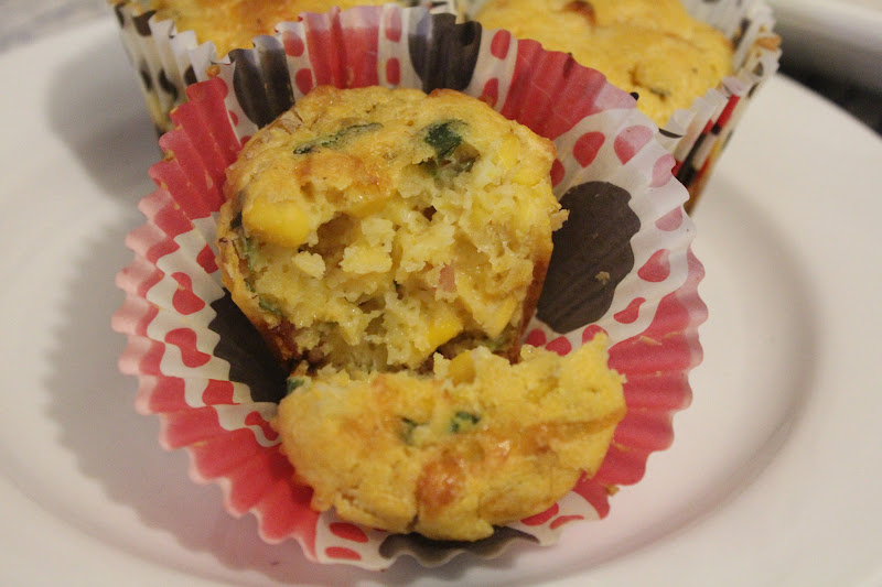 Bacon and Corn Polenta Muffins - A Dash Of Flavour Printable Recipes