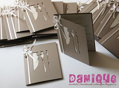 invitatii de nunta cu siluete decupate