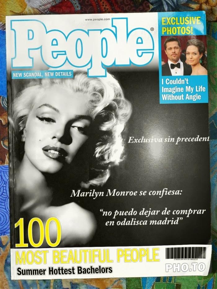 Marilyn Monroe confiesa en la revista People su gran debilidad por nuestra tienda, gracias Marilyn