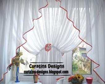 Curtains not overload the kitchen bright colors and decorate it for